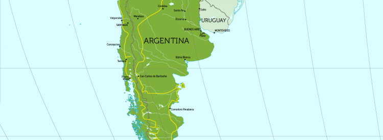 Travel Route in Argentinien.