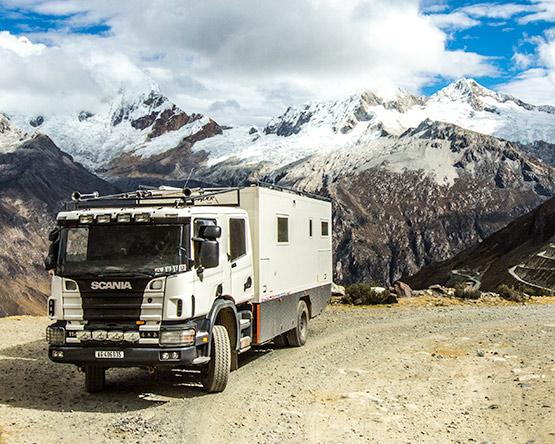 Spektakuläre Aussicht auf beinahe 5000 Meter in der Cordillera Blanca.